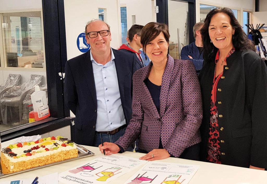 Ondertekening samenwerkingsovereenkomst Haeghe Groep en Vision Furniture